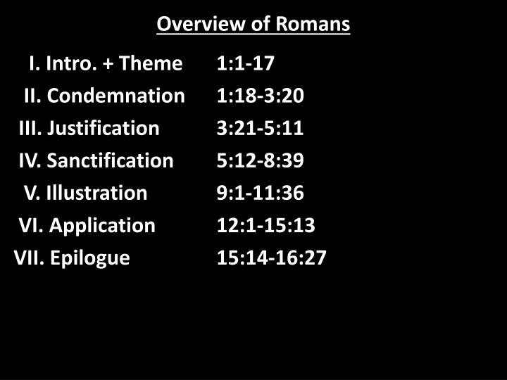 overview of romans n.