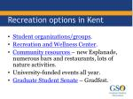 recreation options in kent
