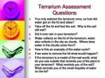 terrarium assessment questions