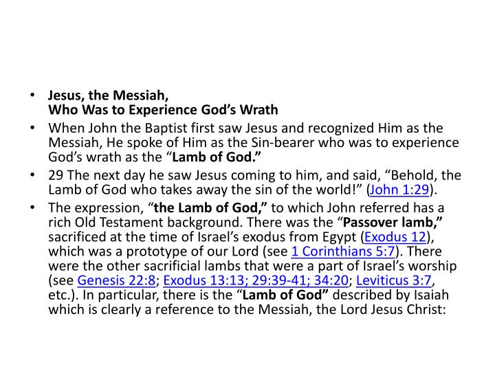 Jesus, the Messiah,