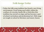 folk songs today