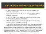 ciq critical incidents questionnaire