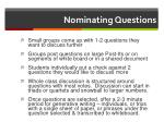nominating questions
