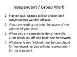 independent group work