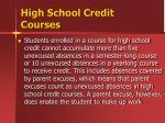 high school credit courses