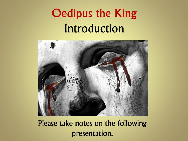 oedipus the king introduction n.