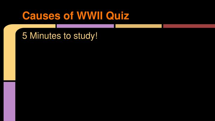 causes of wwii quiz n.