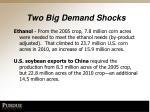 two big demand shocks