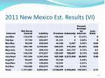 2011 new mexico est results vi