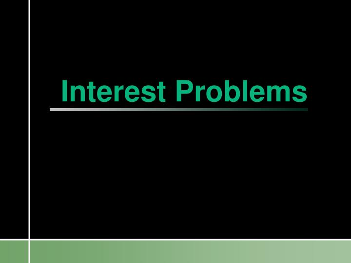 interest problems n.