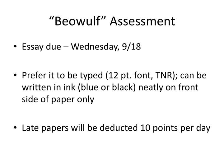beowulf assessment n.