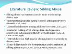 literature review sibling abuse