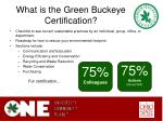 what is the green buckeye certification