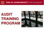 how to understand it the program
