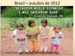brasil outubro de 2012