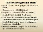 trajet ria ind gena no brasil