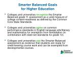 smarter balanced goals for higher education