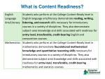 what is content readiness