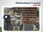 motherboard layout intel 486