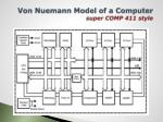 von nuemann model of a computer super comp 411 style