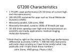 gt200 characteristics