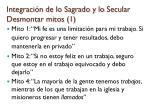 integraci n de lo sagrado y lo secular desmontar mitos 1