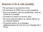 s ntomas 2 en la vida social b