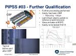 pipss 03 further qualification
