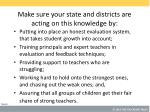 make sure your state and districts are acting on this knowledge by