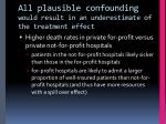 all plausible confounding would result in an underestimate of the treatment effect