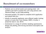 recruitment of co researchers