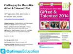 challenging the more able gifted talented 2014