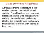 grade 10 writing assignment