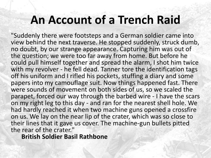 An Account of a Trench Raid