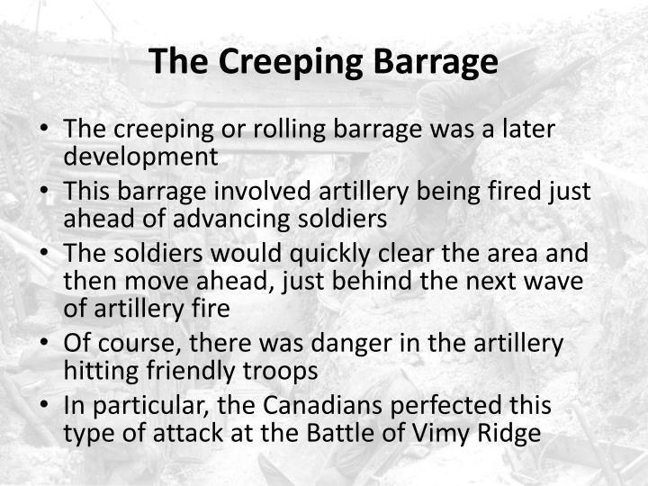 The Creeping Barrage