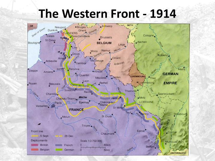 The western front 1914