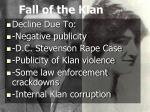 fall of the klan