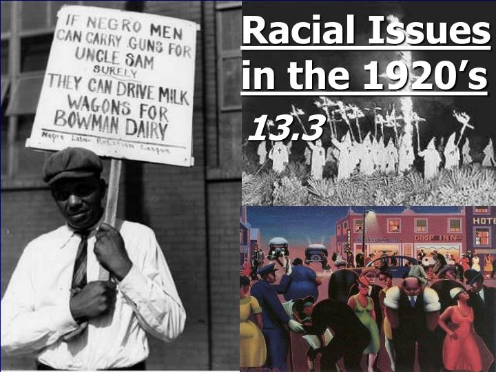 racial issues in the 1920 s n.