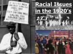 racial issues in the 1920 s