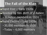 the fall of the klan