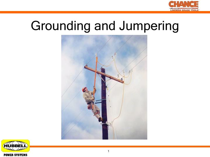 grounding and jumpering n.