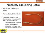 temporary grounding cable