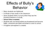 effects of bully s behavior