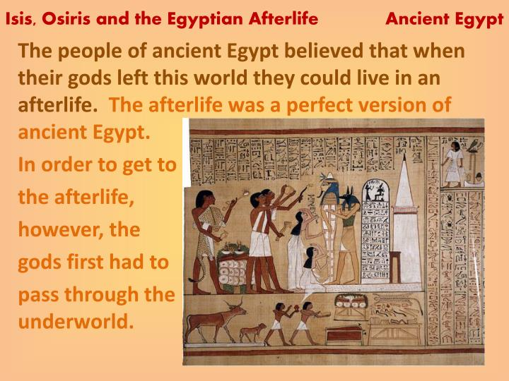 ancient egyptian afterlife discussion Unlike modern egyptians, ancient egyptians had little to no genetic kinship with sub-saharan populations, some of which had significant interactions with egypt.