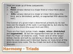 harmony triads