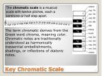 key chromatic scale