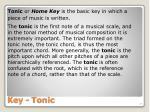 key tonic