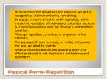 musical form repetition