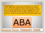 musical form ternary form