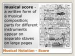 musical notation score